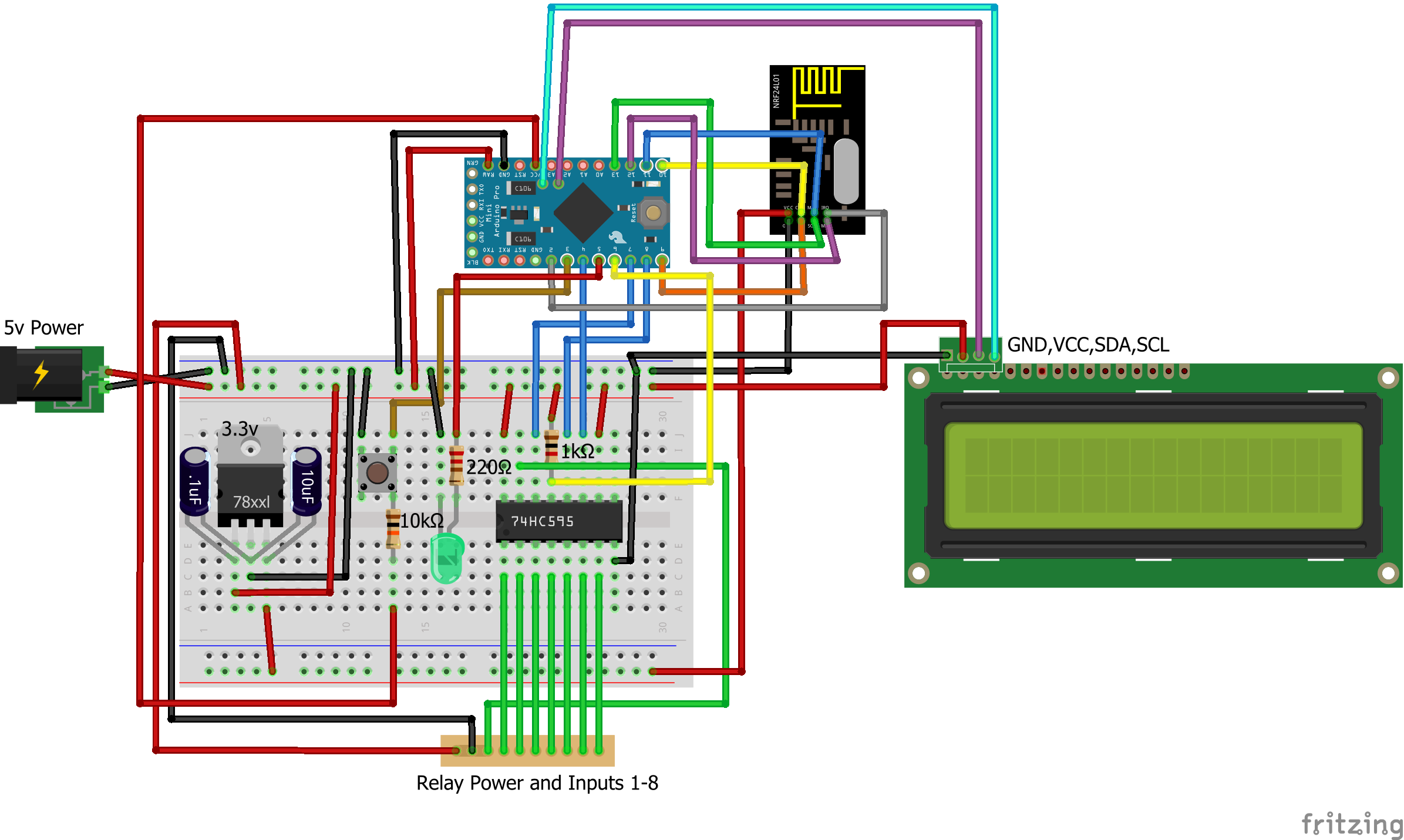 Irrigation Controller Mysensors Create Your Own Connected Home Arduino Control A Relay With Tutorial 5 Start By Connecting The Radio Module Enter Image Description Here
